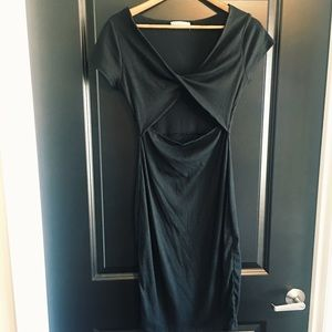 Little Black Dress with Front Cutout
